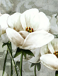 JAMMORY 3D Wallpaper For Home Contemporary Wall Covering Canvas Material White Flower3XL(14'7''*9'2'')