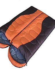 Спальный мешок Прямоугольный Односпальный комплект (Ш 150 x Д 200 см) 0°~18° Пористый хлопок 1100 г 180X75Походы / Путешествия / На
