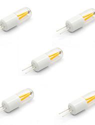 5pcs g4 1.5w conduit ampoule repalce 20w lampe halogène en torchis de filament (ac / dc 12v)