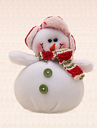 1pc New Year Green Button Snowman Pendant Christmas Tree Decoration Xmas Unique Celebrate Gift