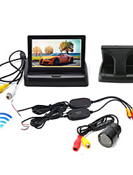 "Wireless 4.3"" Foldable LCD Display Monitor+ Car Rear View  Night Vision HD Camera Waterproof"