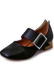 Homme-Bureau & Travail Décontracté Sport-Noir Blanc-Gros Talon-Confort Rollers-Chaussures à Talons-Similicuir