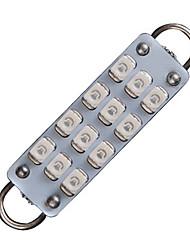 """2x rouge 44mm 1,73 """"boucle rigide 12-SMD feston ampoule LED intérieur 561 562 563"""