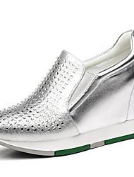 sapatos femininos sintéticos trepadeiras primavera / verão / outono / inverno tênis atlético / plataforma ocasional preto / prata