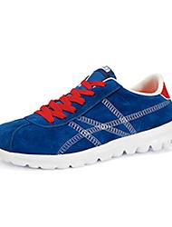 Feminino-TênisRasteiro-Azul Vermelho-Tecido-Ar-Livre