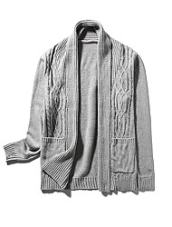 Men's Fashion Korean Solid Casual Outdoor Knitting Cardigan;Causal/Solid