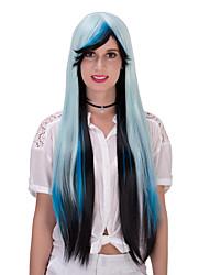lolita graduales de color de pelo de cambio wig.wig, peluca de Halloween, peluca de color, peluca de la manera, peluca natural, peluca