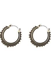 Fashion Womne Vintage Engraved Hoop Earrings