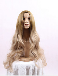 Blonde Color Long Wave Women Wigs Heat Resisting Wigs