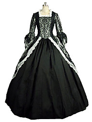 One-Piece/Dress Gothic Lolita Steampunk® Victorian Cosplay Lolita Dress Print Long Sleeve Long Length Dress For Lace Linen Satin