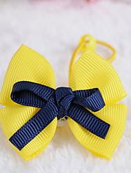 Ткань волосы бант галстук Корейский девушки цветка