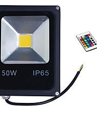50w rgb ip65 de lumière de couleur noire a conduit la lumière crue shell projecteur (85-265V)