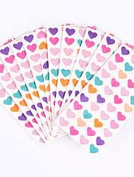 100% virgin pulp 50pcs Colorful Heart Wedding Napkins