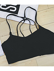 Women's Going out / Casual/Daily Sexy / Simple Spring / Summer Tank Top,Solid Strapless Sleeveless Cotton Thin