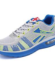 Masculino-Tênis-Conforto-Rasteiro-Azul Cinza Laranja-Tule Tecido-Para Esporte