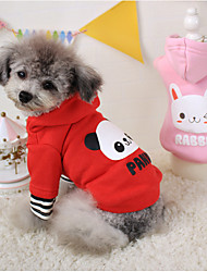 Dog Hoodie Red / Pink Winter Cartoon Cosplay, Dog Clothes / Dog Clothing