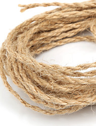 Beadia 2mm Natural Hemp Jute Cord For DIY Jewelry Craft Making (5Mts)