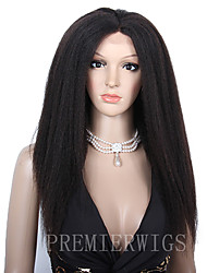 10A Premierwigs 8''-28'' Kinky Straight Brazilian Virgin Full Lace Human Hair Wigs Natural Color Soft Lace Front Wigs