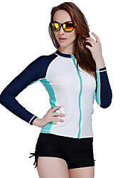 Spring Autumn Women Rash Guard Top Shirts Swim Long Sleeve Snorkeling Diving Wetsuit Swimwear