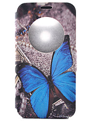 Butterfly Pattern Pattern Window Clamshell PU Leather Case with Stand and Card Slot for LG G5/G4/G3