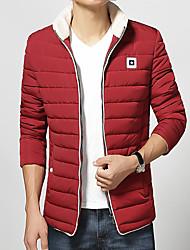 2016 Korean version of the new style fashion leisure men's winter coat color light size coat