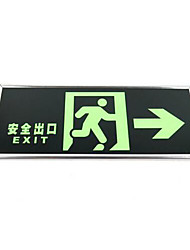 Fluorescent Safety Exit Right Arrow Signage Fluorescent Safety Exit Signs