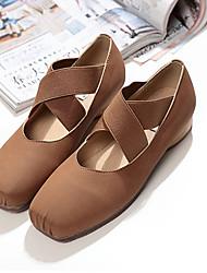 Non Customizable Women's Dance Shoes Satin Satin Ballet Flats Flat Heel Practice Black / Brown