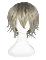 Cosplay Wigs Final Fantasy Hope Estheim Gray Short / Straight Anime Cosplay Wigs 35 CM Heat Resistant Fiber Male / Female