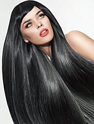 droites longues perruques noires pour les femmes perruques synthétiques résistantes à la chaleur nouvelle de la mode