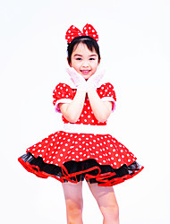 Ballet Dance Dancewear Children's Polka Dots Tutu Ballet Dresses Solo Dance Dress