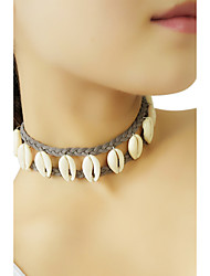Women's Choker Necklaces Cowry Flannelette Shell Fashion Gray Jewelry Party Daily Casual 1pc