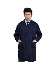 Men's Long-Sleeved Gown with Blue Overalls Gown Printing (Sale Dark Blue)