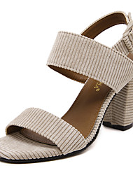 Women's Shoes Styles Open Toe Fleece Heels Office & Career / Party & Evening / Dress / Casual Chunky Heels