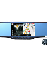 HD Voice Navigation Vehicle Recorder 5 Inch Mirror Dual Lens Vehicle Electronic Dog Reversing Image