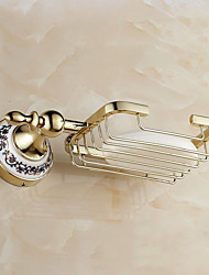 Soap Dish / Gold / Wall Mounted /24*4.5*13cm /Brass / Zinc Alloy /Contemporary /24cm 4.5cm 0.45