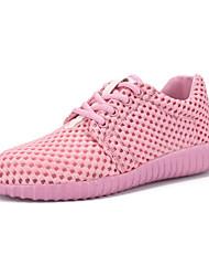 Damen-Sneaker-Lässig-Tüll-Flacher Absatz-Komfort-Schwarz / Rosa / Beige