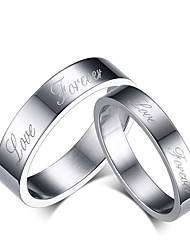 "2016 Fashioin ""Forever Love""Stainless Steel Wedding Special Couples Ring  For Women&Man"