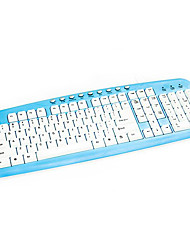 Universal Mechanical Touch White Blue or Pink Wired USB Keyboards