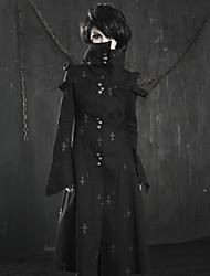 Punk 209 y-coat delírio das mulheres do vintage de médio e longo manga longa