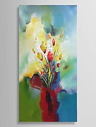 Ready to hang Stretched Hand-Painted Knife Flower Oil Painting Canvas corridor Decor Wall Art