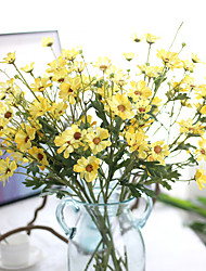 Hi-Q 1Pc Decorative  Real Touch  Chrysanthemum Indicum Wedding Home Table Decoration Artificial Flowers