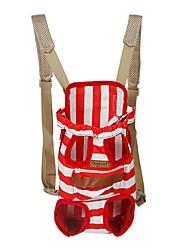 rojo azul de alta calidad hombros / raya&mochila bolsa de transporte de mascotas mascotas perros y gatos