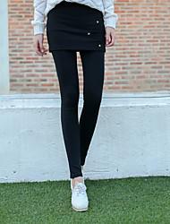 Damen Einfarbig Legging,Baumwolle