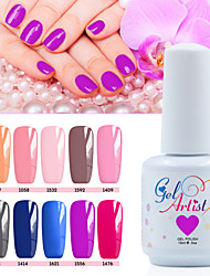 Vernis Gel UV 15ml 12picecs/set Gel de Couleur UV Gel de Finition UV Couche de Finition Couche de Base TransparentFaire tremper Longue
