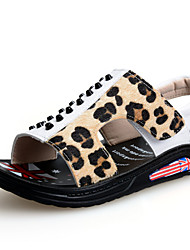 Boys' Shoes Casual Leatherette Sandals Summer Sandals Gore Black / White