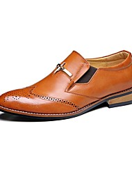 Westland® Men's Oxfords Comfort / Pointed Toe Cowhide Office & Career / Party & Evening / Casual Low Heel Slip-on /