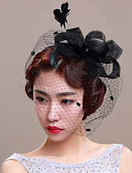Damen Tüll Netz Kopfschmuck-Hochzeit Besondere Anlässe Kopfschmuck Netzschleier 1 Stück
