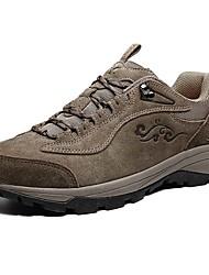Серый / Телесный-Мужской-Для прогулок / Для занятий спортом-Замша-На плоской подошве-Удобная обувь-Спортивная обувь