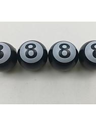 neumático de automóvil negro tapa de la válvula bola 8 modificado negro cubierta de la válvula creativa 8 casquillo