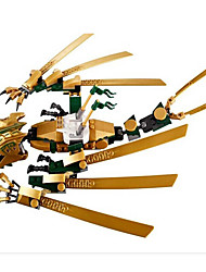 jouet dragon d'or fantôme de ninjas de bole véritables enfants 9793 contre le dragon attaque